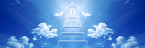 Фотообои лестницы из облаков в небо (sky-0000051)