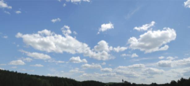 Фотообои пейзаж с облаками в небе (sky-0000065)