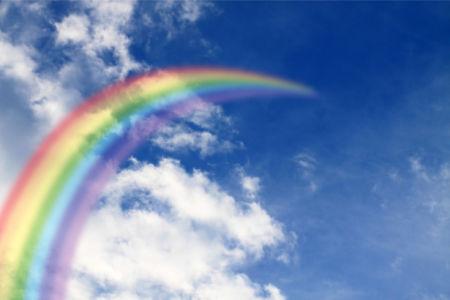 Фотообои радуга в небе (sky-0000153)