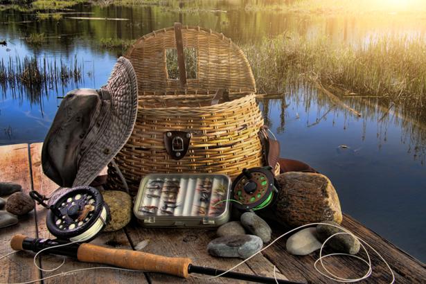 Фотообои рыбацкий набор (sport-0000006)