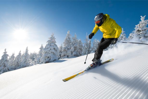 Фотообои лыжник на снегу (sport-0000133)