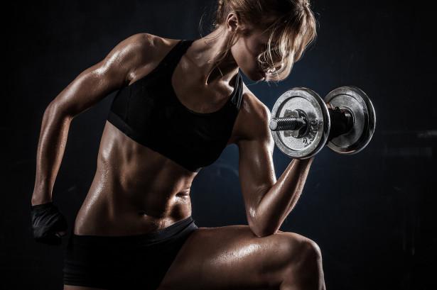 Фотообои накачка мышц с гантелями (sport-178)