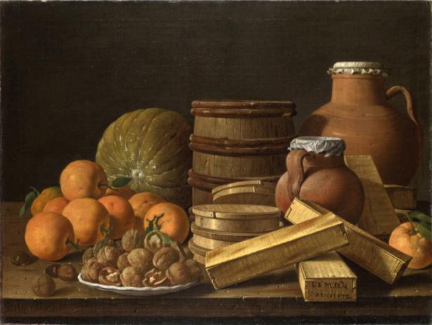 Фотообои с апельсинами и грецкими орехами (still-life-0064)