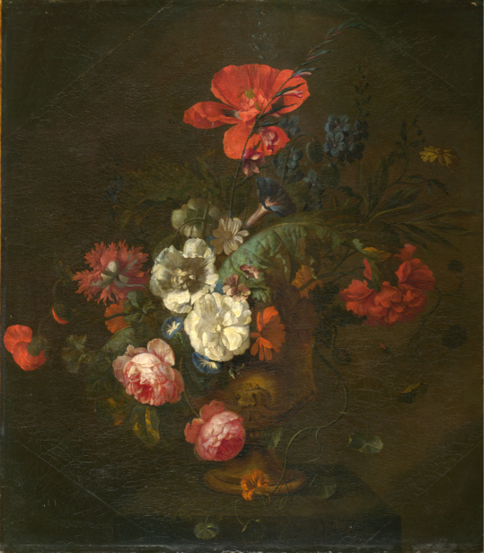Фотообои Цветы в вазе камень Ян ван Хейсюм (still-life-0075)