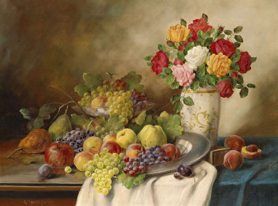 Картина Цветочно-фруктовое ассорти (still-life-0094)