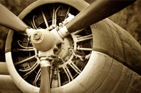 Фотообои ретро самолет биплан (transport-0000242)