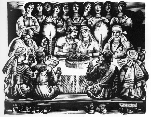 Иллютрация к драме И. Кочерги Свадьба Свечки (ukraine-0092)
