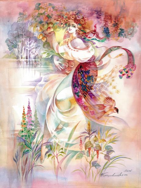 Иллюстрация к произведению М. Рыльского Яблука доспіли (ukraine-0106)
