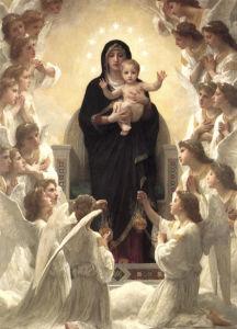 Фреска картина Бугеро Мадонна ангелы (angel-00044)
