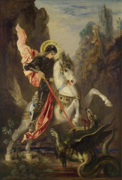 Фотообои Святой Георгий и дракон (art-0000757)