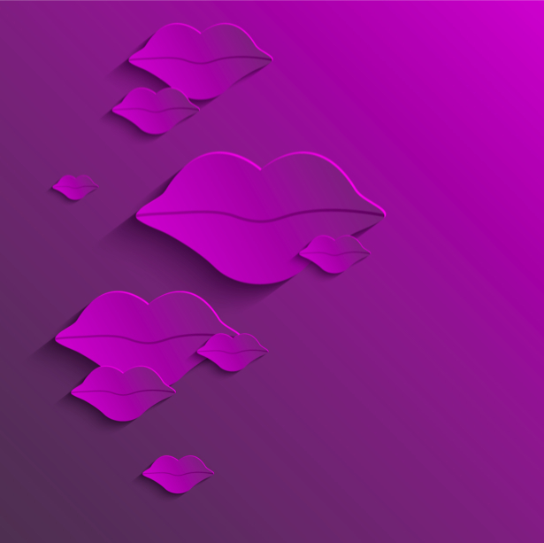 Фотообои Губы из бумаги (background-0000360)
