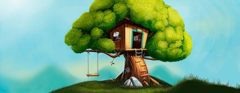 Фотообои Детский дом на дереве (child-567)