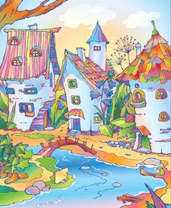 Фотообои сказочные домики (children-0000394)