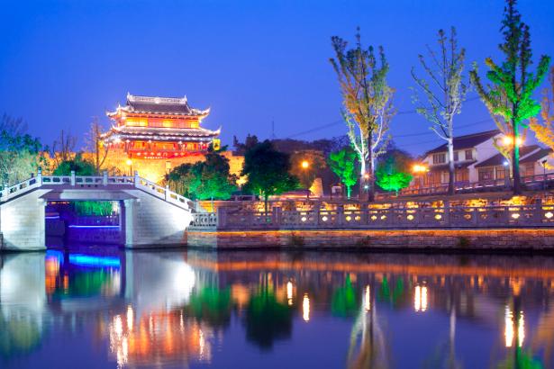 Фотообои Восток, Китай, вечерний город (city-0000015)