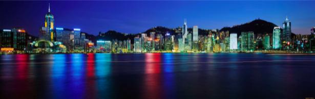 Фотообои ночной город, город на воде (city-0000214)