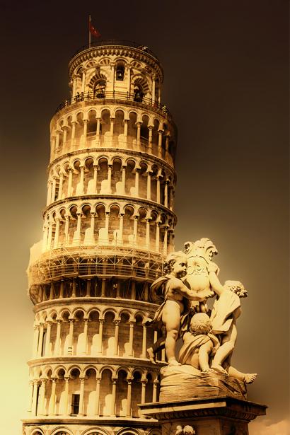 Фотообои Пизанская башня Пиза (city-0000397)