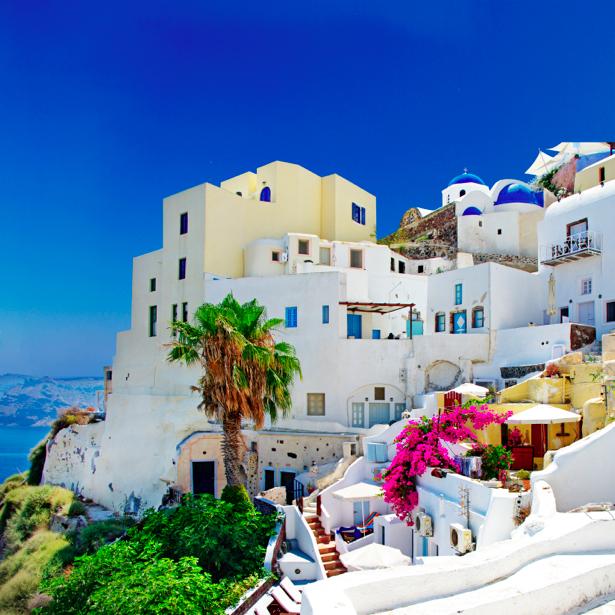Фотообои Греция набережная причал (city-0000621)