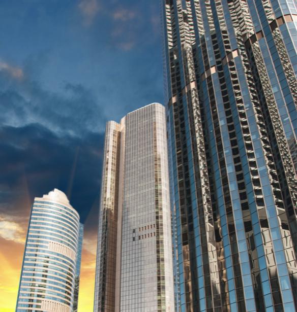 Фотообои небоскреб вид снизу (city-0000793)