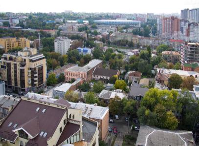 Фотообои Днепропетровск крыши (city-0000952)