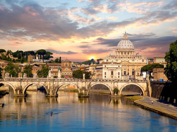 Фотообои Базилика Сан-Пьетро с мостом в Ватикане (city-1492)
