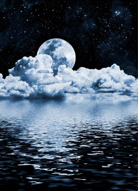 Фотообои  ночное море и отражение (fantasy-0000032)