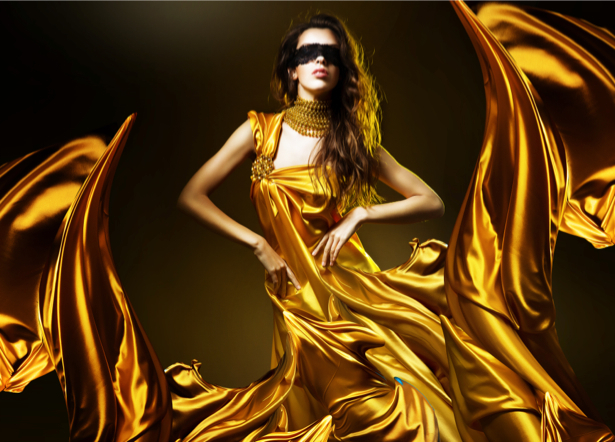 Фотообои девушка в золотом платье (glamour-0000011)