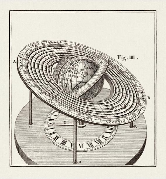 астрономия, астрономическая иллюстрация (map-0000057)
