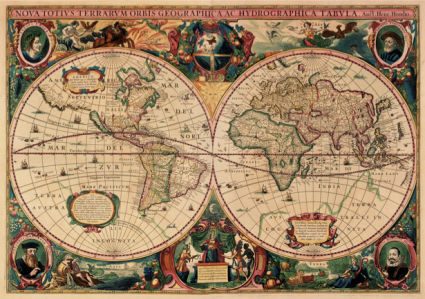 атлас, география, карты, старая карта (map-0000082)