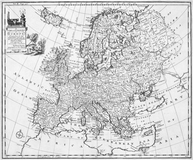 атлас, география, карты, старая карта (map-0000107)