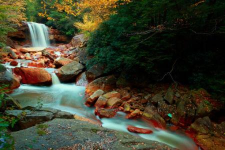 Фотообои с природой водопад осень (nature-00360)