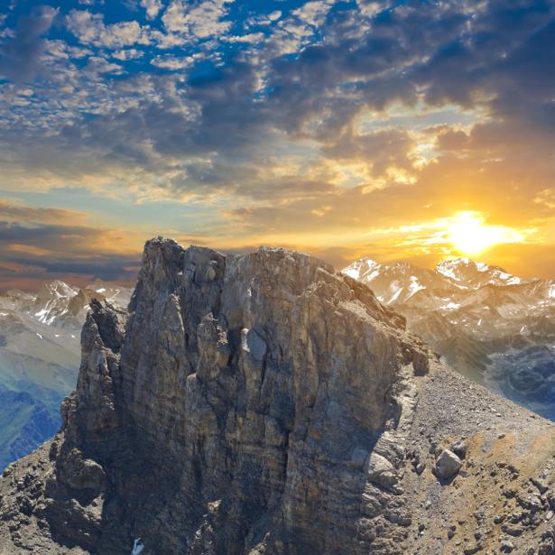 Фотообои горы закат фото пейзаж (nature-00493)