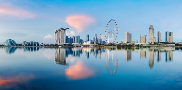 Фотообои горизонты Сингапура (panorama-52)