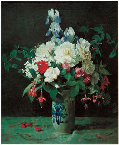 Джордж Кокран Ламбдин цветы в вазе (pf-71)