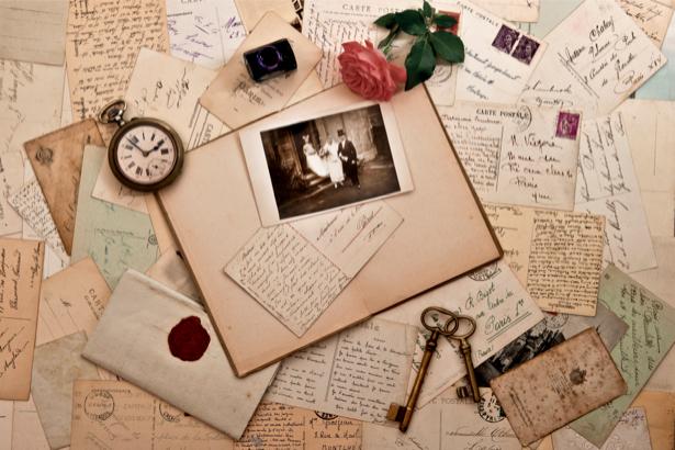 Фотообои роза и фото (retro-vintage-0000082)