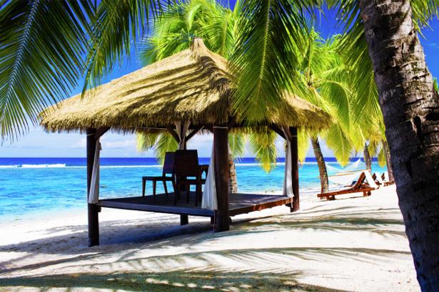 Фотообои море остров пальмы отдых (sea-0000331)