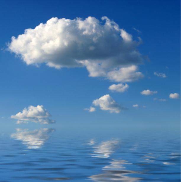 Фотообои небо облака в отражении (sky-0000091)