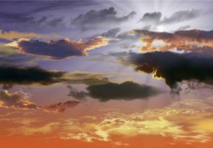 Фотообои вечернее небо облака (sky-0000127)