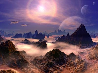 Фотообои планета космический пейзаж (space-0000090)