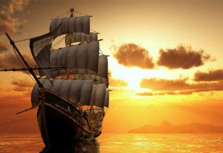 Фотообои древний корабль (transport-0000259)