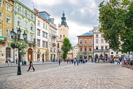 Фотообои Рыночная площадь, Львов (ukr-74)