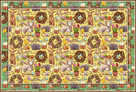 Скатерть Винтажная пасха (0174)