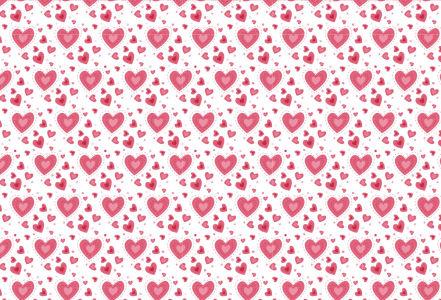Скатерть Сердечки на белом фоне (0185)