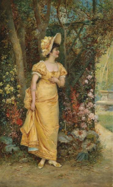 Фотообои Женщина в саду (art-0000760)
