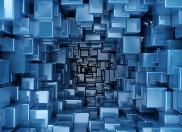 Фотообои Синие кубы (background-396)