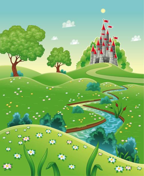 Сказочный замок - Фотообои детские (children-0000269)