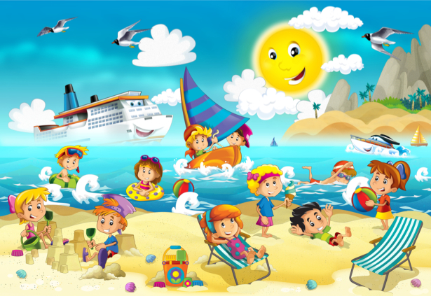 Детские фотообои детский отдых (children-0000374)