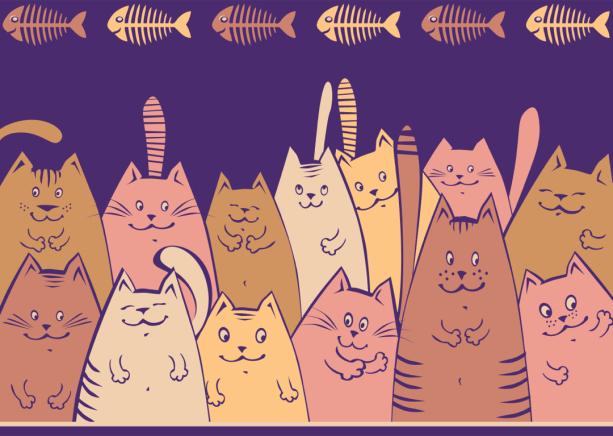 Веселые коты фотообои для детской (children-0000377)