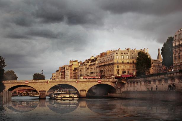 Фотообои Париж, Сена, мост, Франция (city-0000236)