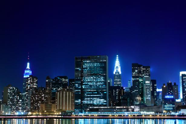 Фотообои ночной город, небоскребы (city-0000244)