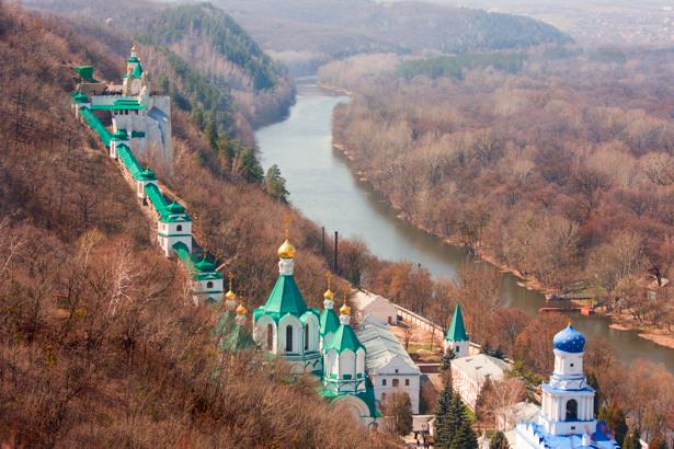 Фотообои Пещерный монастырь в Святогорске (city-0000572)